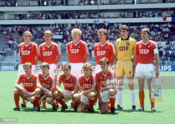 World Cup Finals Leon Mexico 5th June 1986 France 1 v USSR 1 The USSR team line up before the match