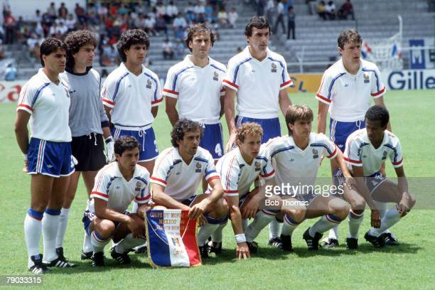 World Cup Finals Leon Mexico 9th June France 3 v Hungary 0 France pose for a team group