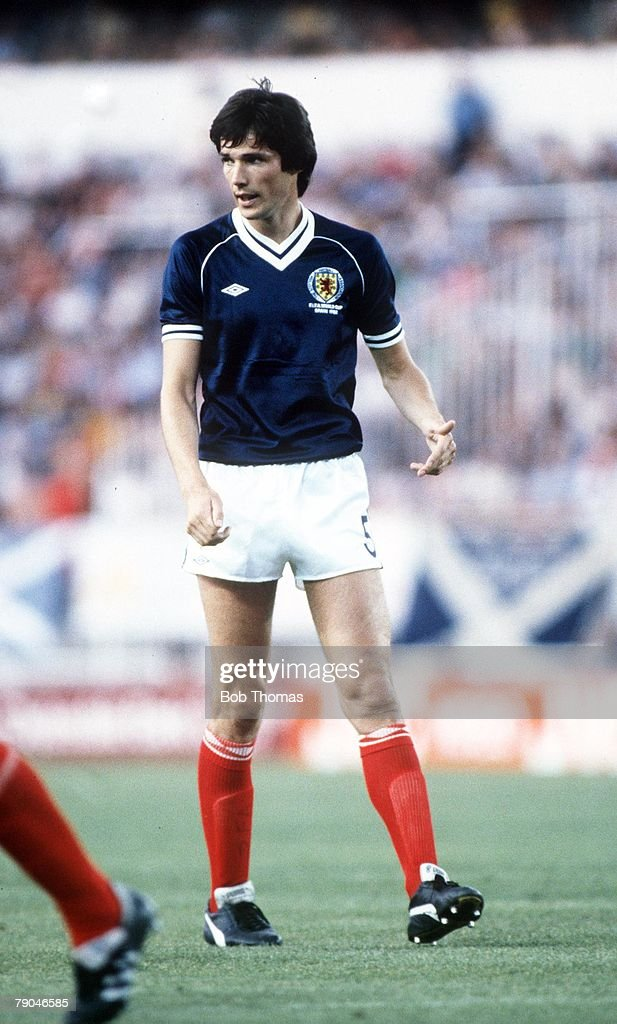 1982 World Cup Finals. Malaga, Spain. 22nd June, 1982. USSR 2 v Scotland 2. Scotland's Alan Hansen. : News Photo