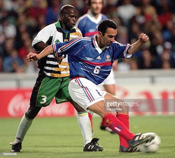 World Cup Finals Marseille France 12th JUNE 1998 France 3 v South Africa 0 France's Youri Djorkaeff scores Frances second goal