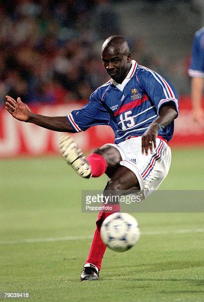 World Cup Finals Marseille France 12th JUNE 1998 France 3 v South Africa 0 France's Lilian Thuram passes the ball