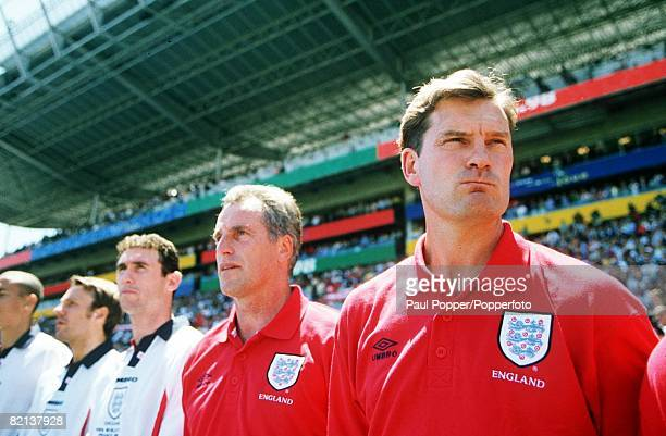 World Cup Finals Marseille France 15th June England 2 v Tunisia 0 England's coach Glenn Hoddle looks tense before the match