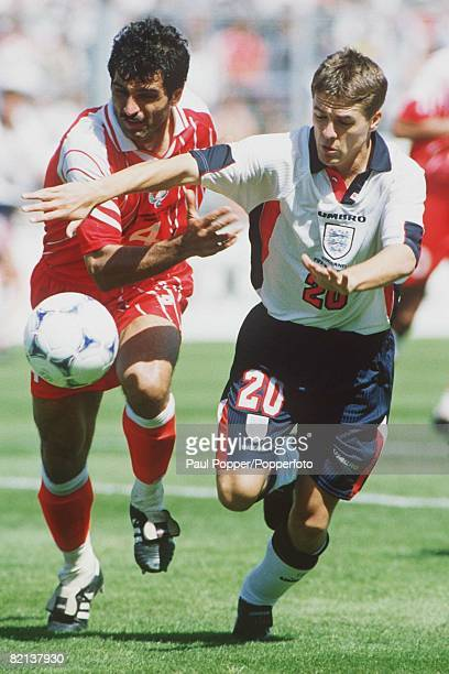 World Cup Finals Marseille France 15th June England 2 v Tunisia 0 England's Michael Owen moves away from Tunisia's Mounir Boukadida