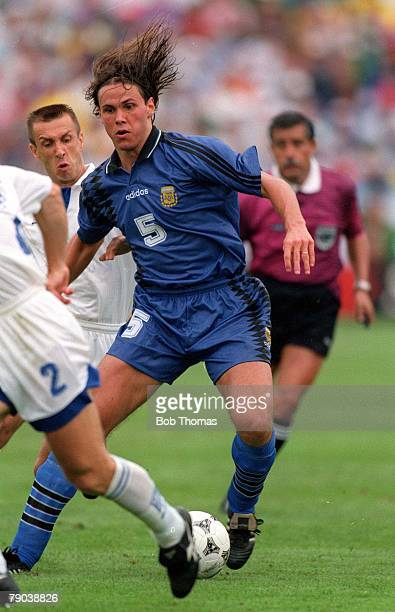World Cup Finals Massachusetts USA 21st June Argentina 4 v Greece 0 Argentina's Fernando Redondo in action against Greece during the match