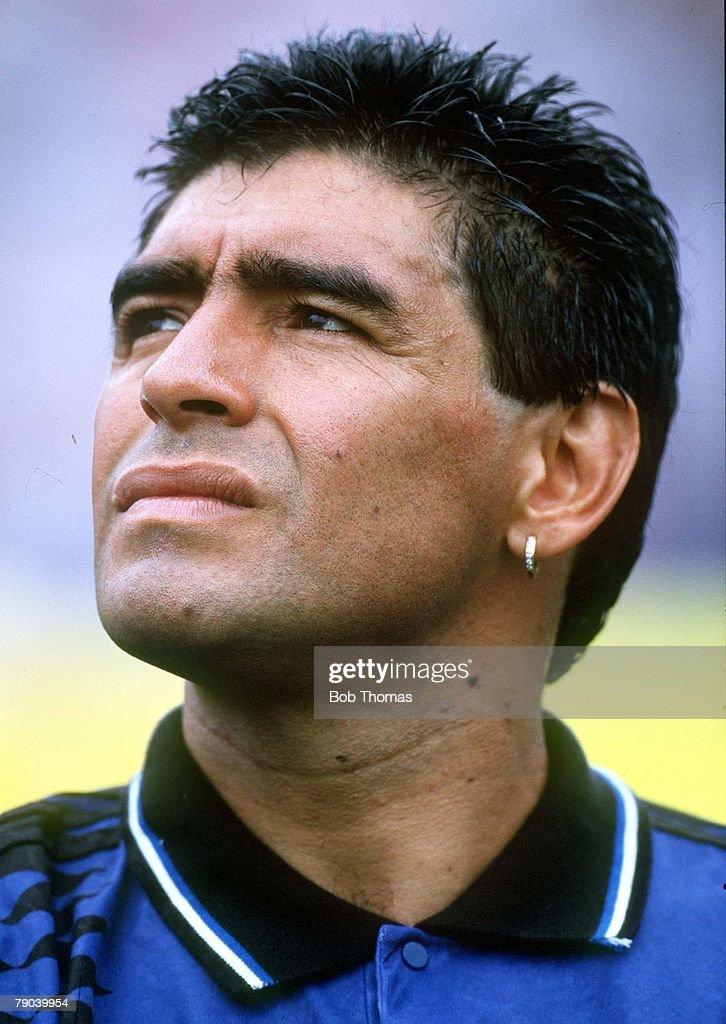 World Cup Finals, Massachusetts, USA, 21st June, 1994, Argentina 4 v Greece 0, Argentina's Diego Maradona
