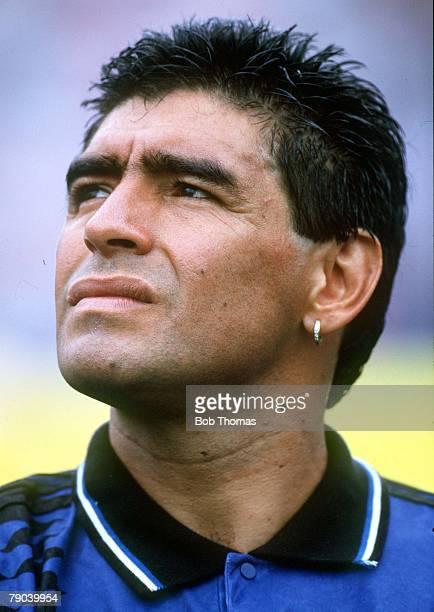 World Cup Finals Massachusetts USA 21st June Argentina 4 v Greece 0 Argentina's Diego Maradona