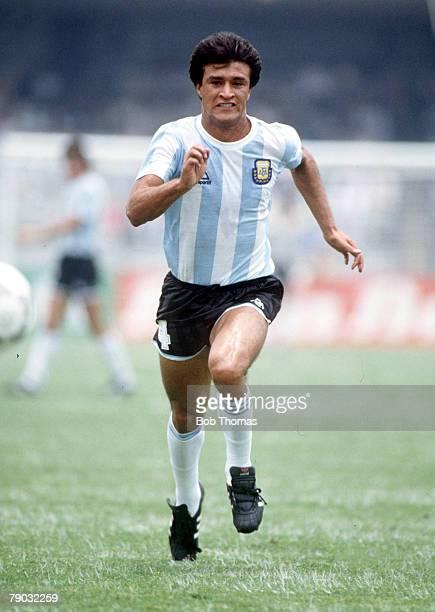 World Cup Finals Mexico City Mexico 10th June Argentina 2 v Bulgaria 0 Argentina's Claudio Borghi