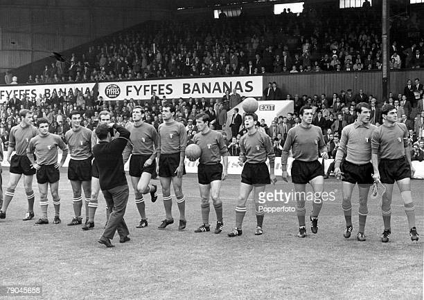 World Cup Finals Middlesborough England 19th July North Korea 1 v Italy 0 The Italian team line up before their Group Four match