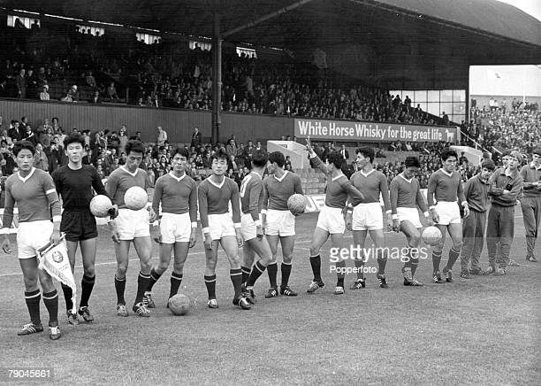 World Cup Finals Middlesborough England 19th July North Korea 1 v Italy 0 The North Korean team line up before their Group Four match