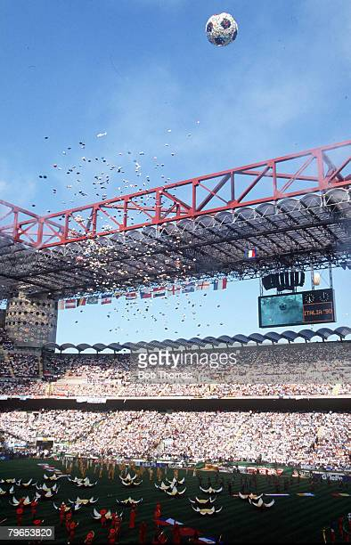 World Cup Finals Milan Italy 8th June Opening Ceremony Balloons are released in to the air in the San Siro Stadium during the Opening Ceremony