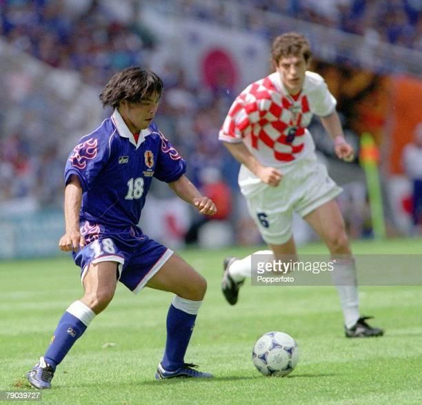World Cup Finals Nantes France 20th JUNE 1998 Japan 0 v Croatia 1 Japan's Shoji Jo with the ball