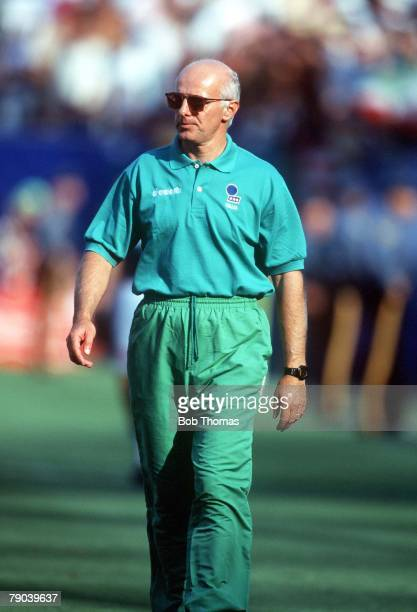 World Cup Finals New Jersey USA 23rd June Italy 1 v Norway 0 1 v Norway 0 Italy's coach Arrigo Sacchi
