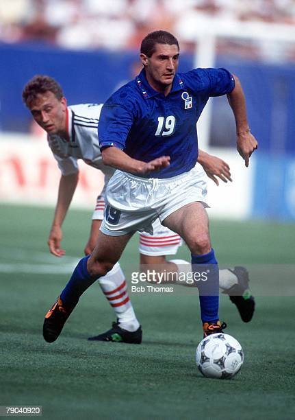 World Cup Finals New Jersey USA 23rd June Italy 1 v Norway 0 Italy's Daniele Massaro