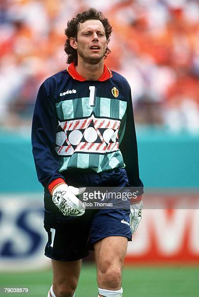 World Cup Finals Orlando USA 25th June Holland 0 v Belgium 1 Belgian goalkeeper Michel Preud'Homme