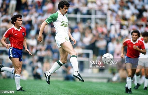 World Cup Finals Oviedo Spain 24th June Algeria 3 v Chile 2 Algerian captain Ali Fergani