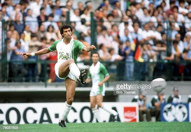 World Cup Finals Oviedo Spain 24th June Algeria 3 v Chile 2 Algeria's Mahmoud Guendouz