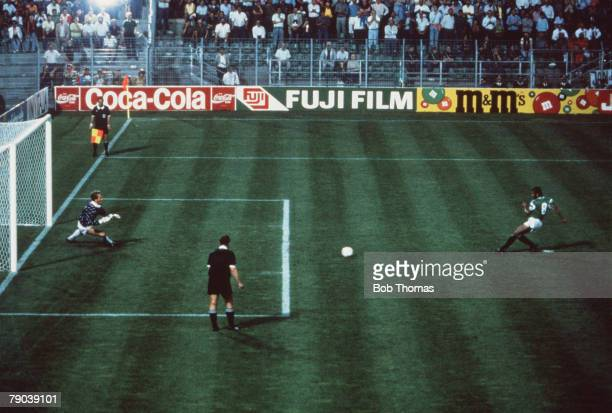 World Cup Finals Palermo Italy 12th June Holland 1 v Egypt 1 Egypt's Magdi Abed El Ghani scores his side's equalising goal from the penalty spot past...