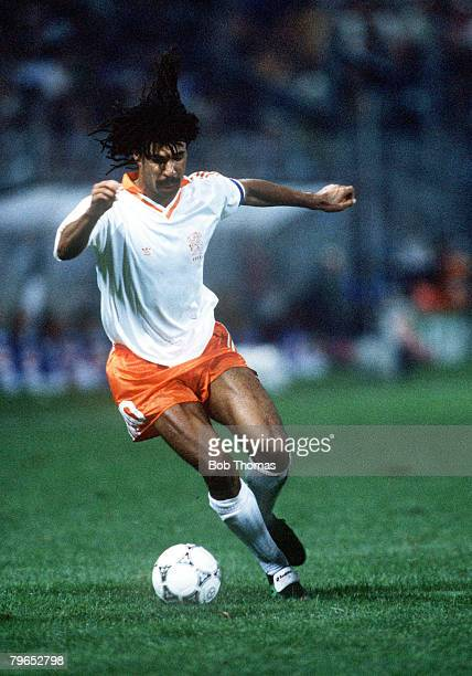 World Cup Finals Palermo Italy 12th June Holland 1 v Egypt 1 Holland's Ruud Gullit on the ball