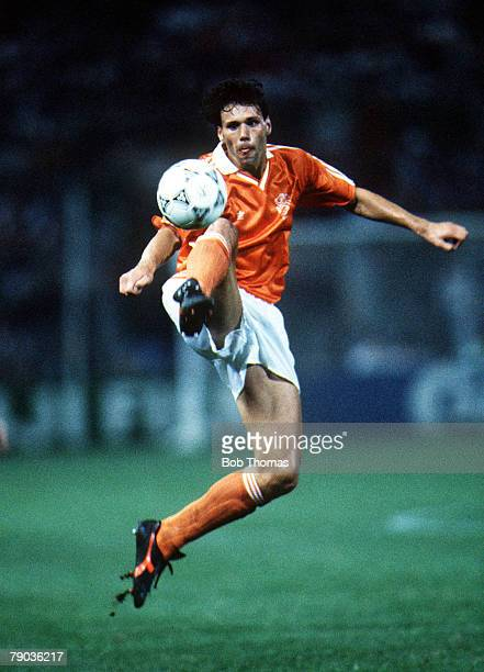 World Cup Finals Palermo Italy 21st June Holland 1 v Republic Of Ireland 1 Holland's Marco Van Basten controls the ball