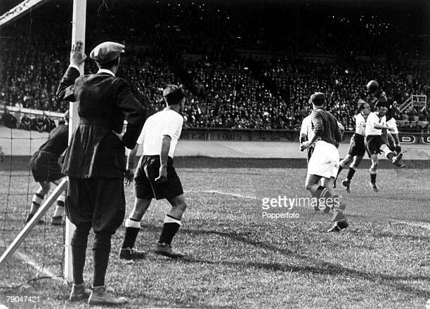 World Cup Finals Paris France 4th June Germany 1 v Switzerland 1 Referee John Langenus who refereed the first ever World Cup Final in Montevideo...