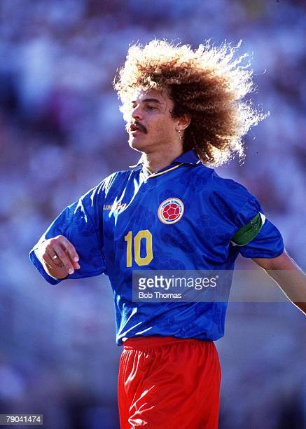 World Cup Finals Pasadena USA 18th June Romania 3 v Colombia 1 Carlos Valderrama Colombia