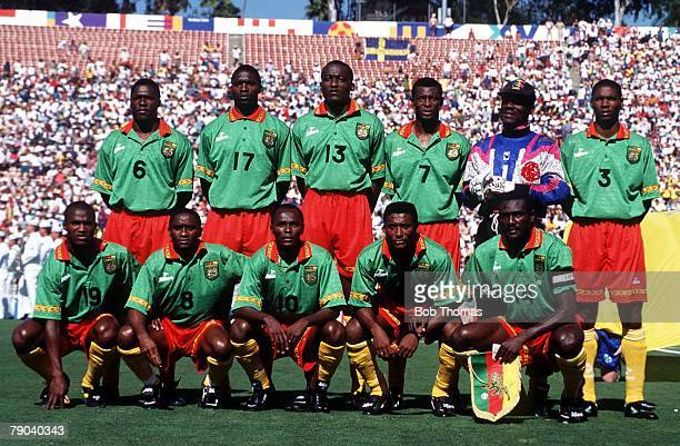 World Cup Finals Pasadena USA 19th June 1994 Cameroon 2 v Sweden 2 Cameroon team group