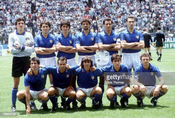 World Cup Finals Puebla Mexico 5th June 1986 Italy 1 v Argentina 1 The Italian team line up before the match
