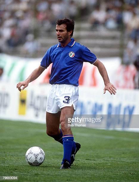 World Cup Finals Puebla Mexico 5th June Italy 1 v Argentina 1 Italy's Antonio Cabrini on the ball