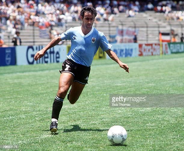 World Cup Finals Queretaro Mexico 4th June 1986 West Germany 1 v Uruguay 1 Uruguay's Alzamendi