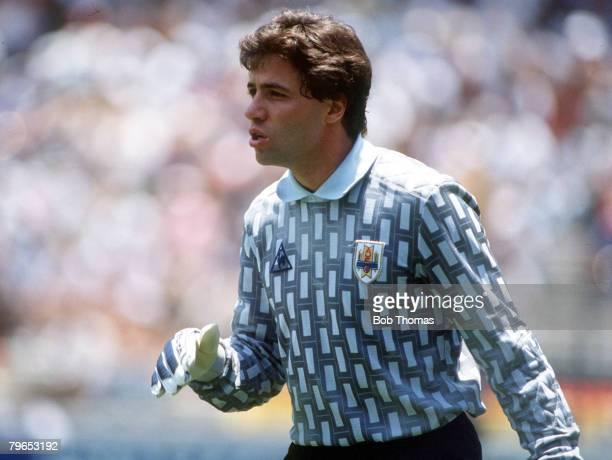 World Cup Finals Queretaro Mexico 4th June 1986 West Germany 1 v Uruguay 1 Uruguay's goalkeeper Nelson