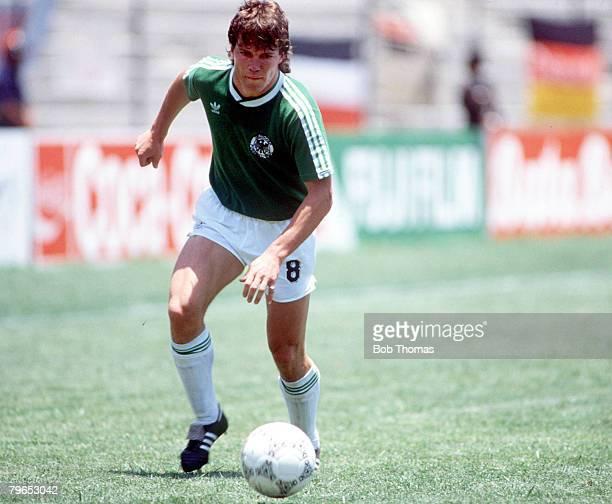 World Cup Finals Queretaro Mexico 4th June West Germany 1 v Uruguay 1 West Germany's Lothar Matthaeus