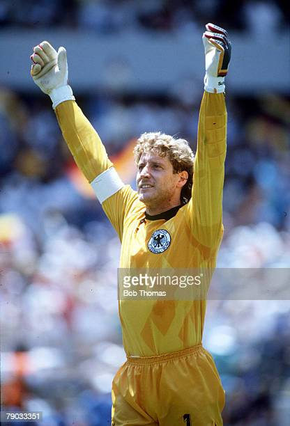 World Cup Finals Queretaro Mexico 8th June West Germany 2 v Scotland 1 West German goalkeeper Harald Schumacher