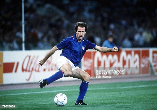 World Cup Finals, Rome, Italy, 14th June Italy 1 v USA 0, Italy's Franco Baresi on the ball