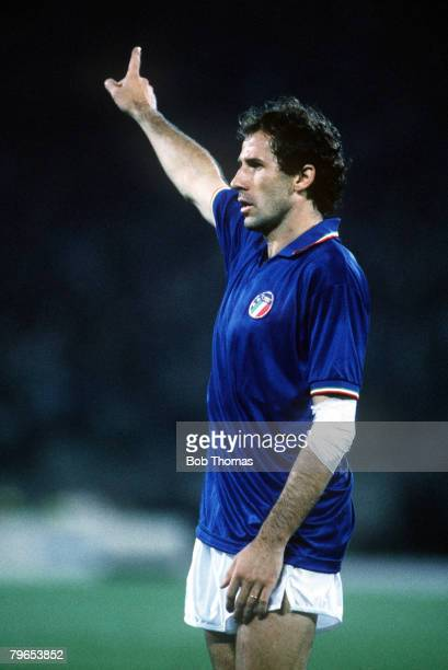 World Cup Finals, Rome, Italy, 9th June Italy 1 v Austria 0, Italy's Franco Baresi