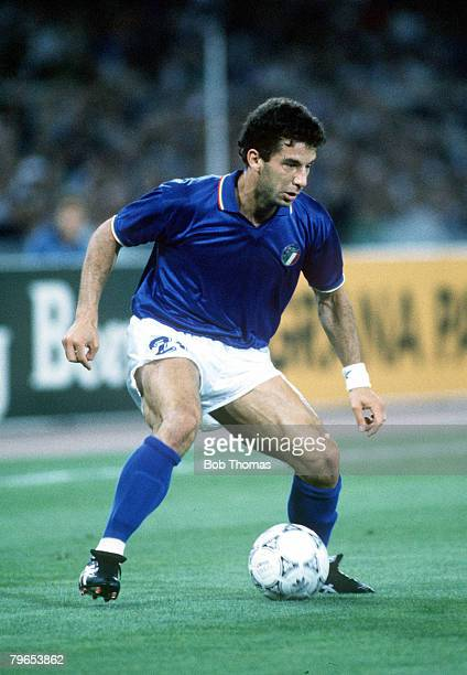 World Cup Finals Rome Italy 9th June Italy 1 v Austria 0 Italy's Gianluca Vialli