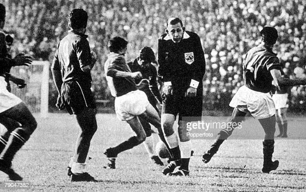 World Cup Finals Santiago Chile 2nd June Italy 0 v Chile 2 English referee Ken Aston who sent off two Italian players in the group two match dubbed...