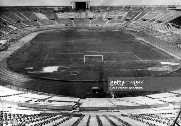 World Cup Finals Santiago Chile An exterior view of the 80000 capacity National Stadium built for the 1962 World Cup
