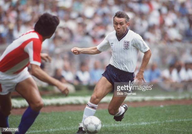 World Cup Finals Second Phase Azteca Stadium Mexico 18th June England 3 v Paraguay 0 England's Peter Reid on the ball