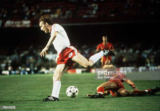 World Cup Finals Second Phase Barcelona Spain 28th June Poland 3 v Belgium 0 Poland's Zbigniew Boniek tackled by Belgium's Ludo Coeck