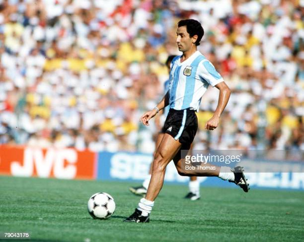 World Cup Finals Second Phase Barcelona Spain 29th June Italy 2 v Argentina 1 Argentina's Osvaldo Ardiles