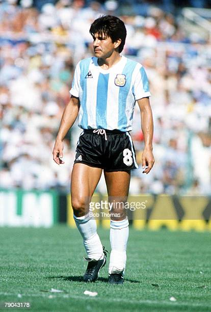 World Cup Finals Second Phase Barcelona Spain 29th June Italy 2 v Argentina 1 Argentina's Luis Galvan