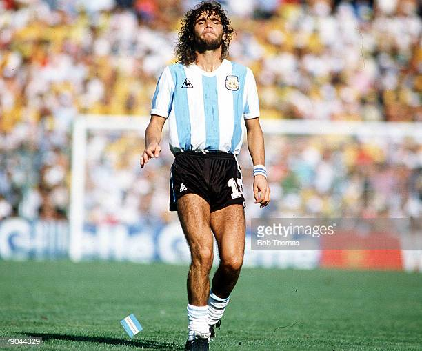 World Cup Finals Second Phase Barcelona Spain 29th June Italy 2 v Argentina 1 Argentina's Alberto Tarantini