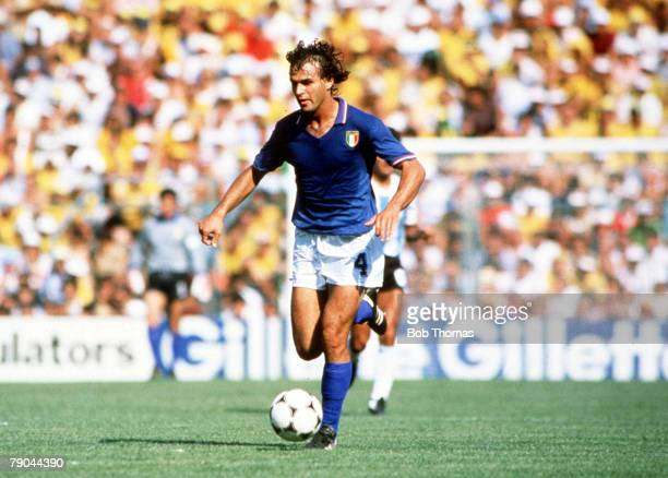 World Cup Finals Second Phase Barcelona Spain 29th June Italy 2 v Argentina 1 Italy's Antonio Cabrini