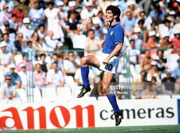 World Cup Finals Second Phase Barcelona Spain 29th June Italy 2 v Argentina 1 Italy's Paolo Rossi