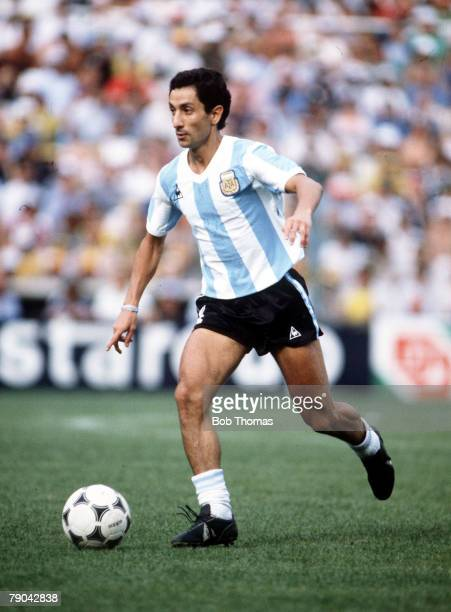 World Cup Finals Second Phase Barcelona Spain 2nd July Brazil 3 v Argentina 1 Argentina's Osvaldo Ardiles on the ball