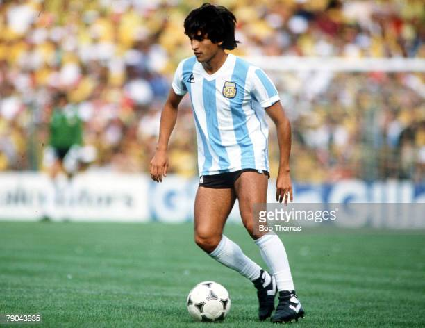 World Cup Finals Second Phase Barcelona Spain 2nd July Brazil 3 v Argentina 1 Argentina's Ramon Diaz