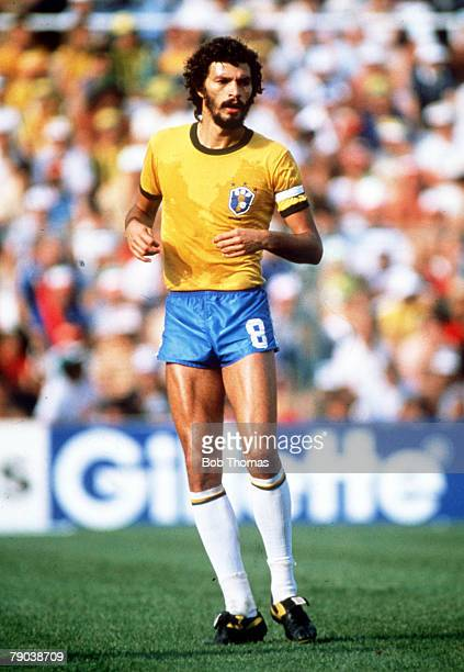 World Cup Finals Second Phase Barcelona Spain 5th July Italy 3 v Brazil 2 Brazil's Socrates