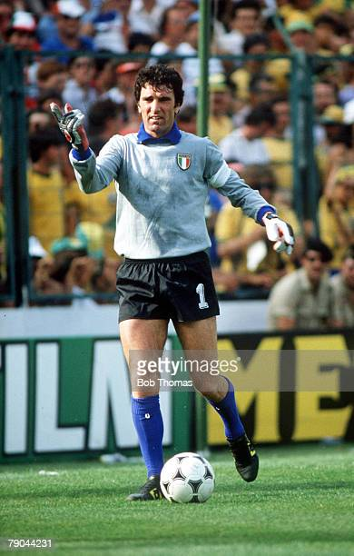 World Cup Finals Second Phase Barcelona Spain 5th July Italy 3 v Brazil 2 Italy's goalkeeper Dino Zoff