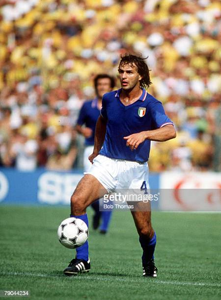 World Cup Finals Second Phase Barcelona Spain 5th July Italy 3 v Brazil 2 Italy's Antonio Cabrini