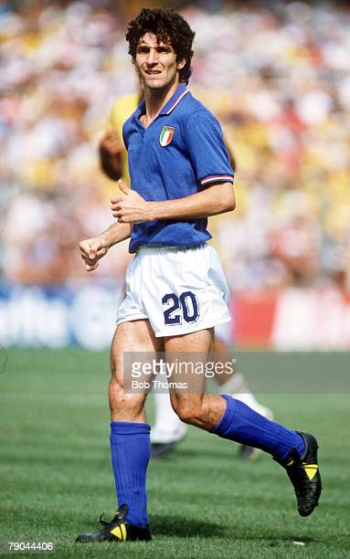 World Cup Finals Second Phase Barcelona Spain 5th July Italy 3 v Brazil 2 Italy's Paolo Rossi